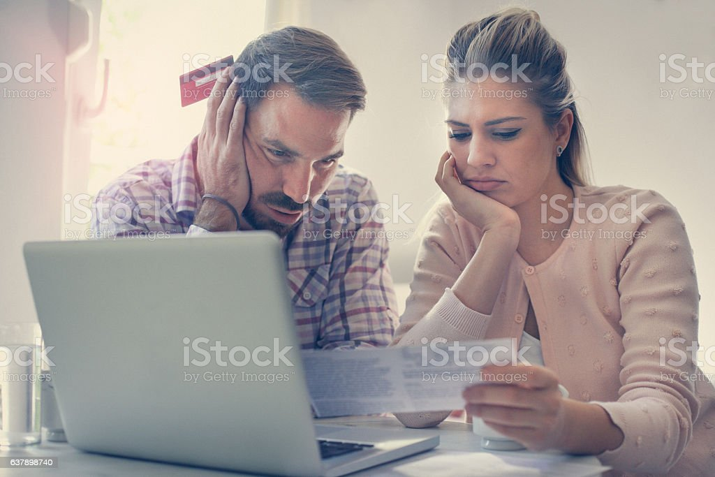Financial problem. stock photo