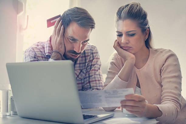 financial problem. - checking stock-fotos und bilder