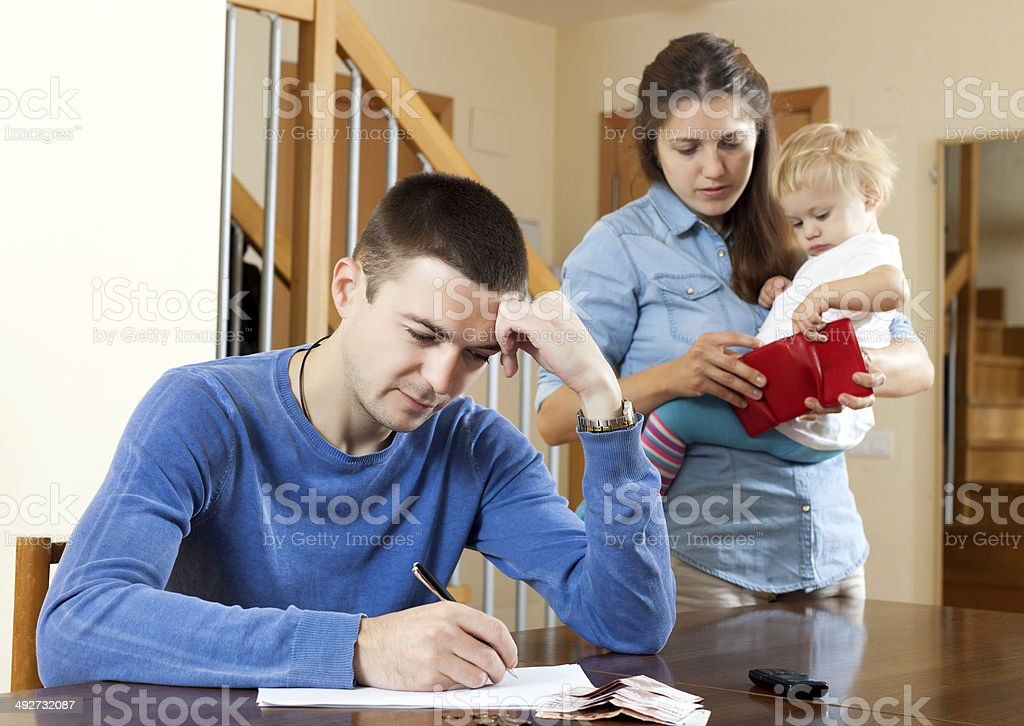 Financial problems in family. stock photo