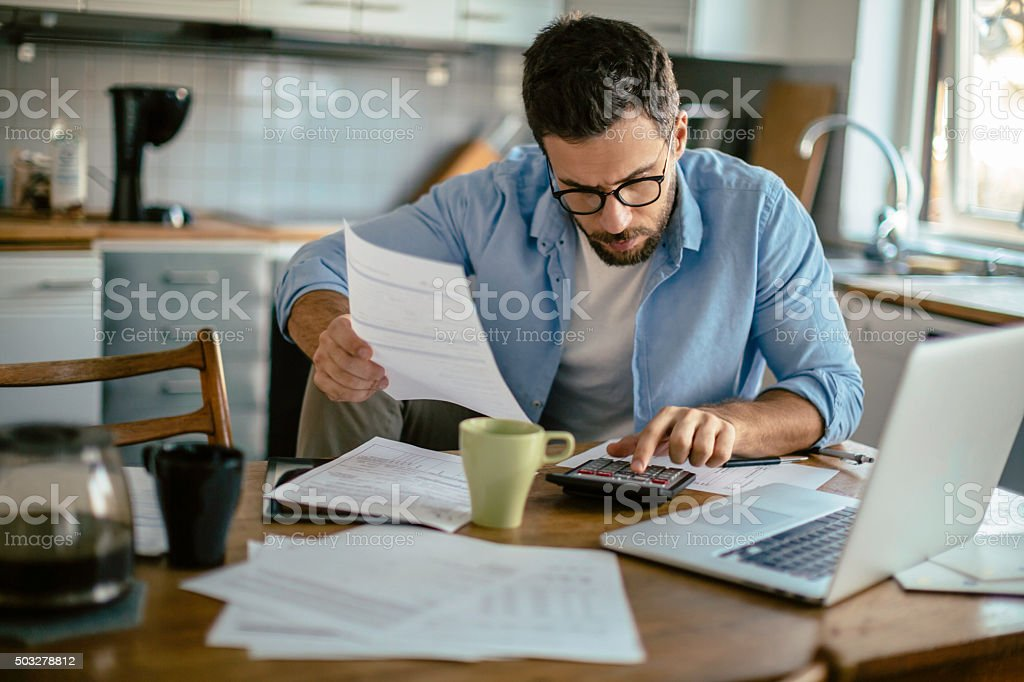 Financial problems stock photo