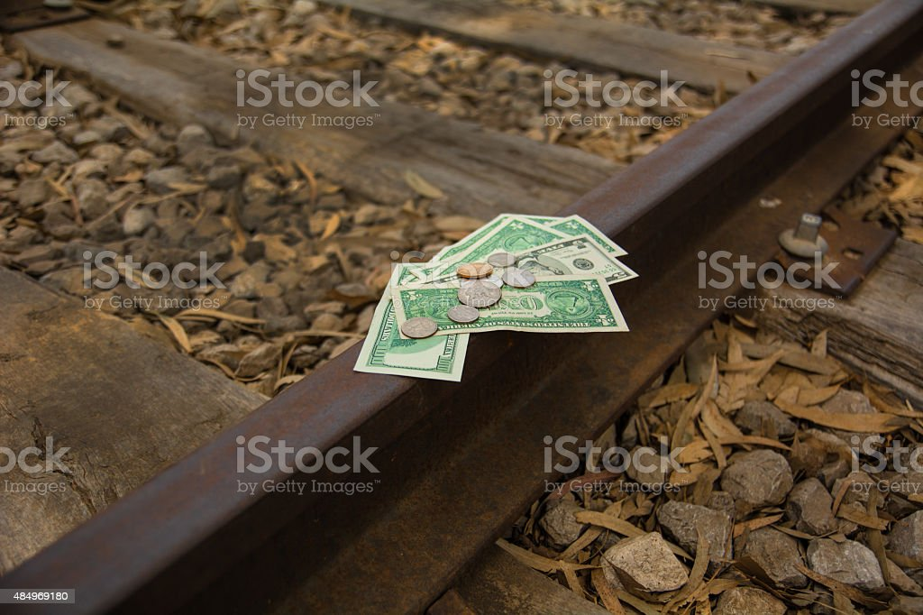 Financial rails stock photo