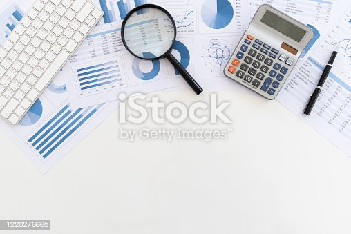 675825950 istock photo financial report above view 1220276665