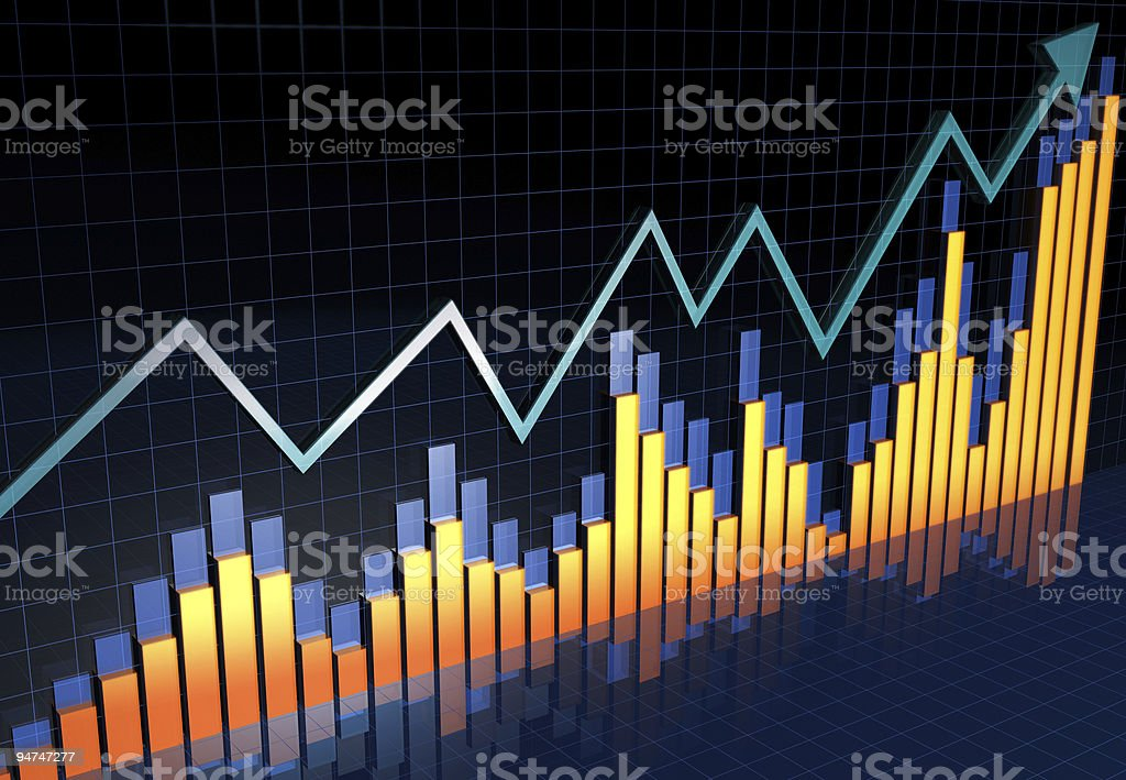 Financial report business growth concept royalty-free stock photo