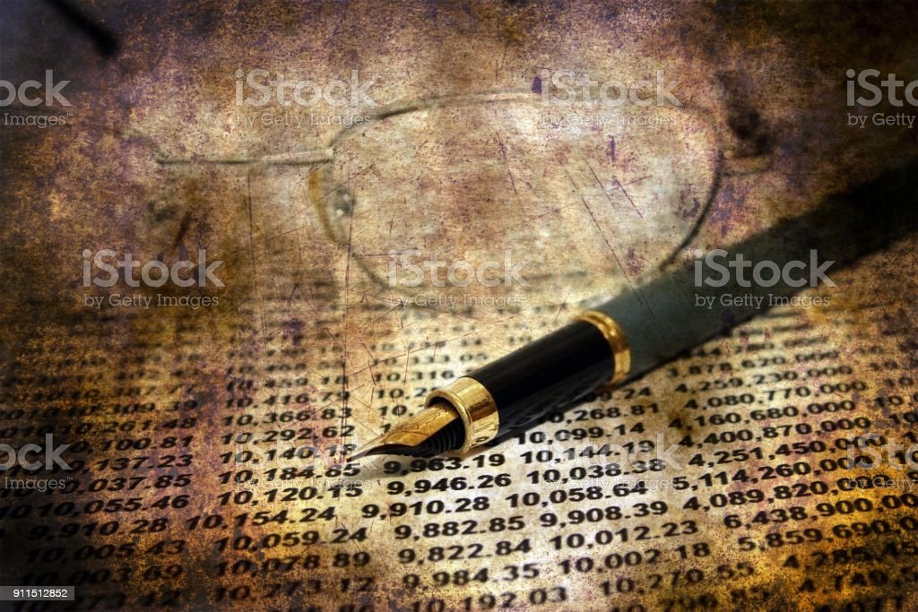 Financial report grunge concept stock photo