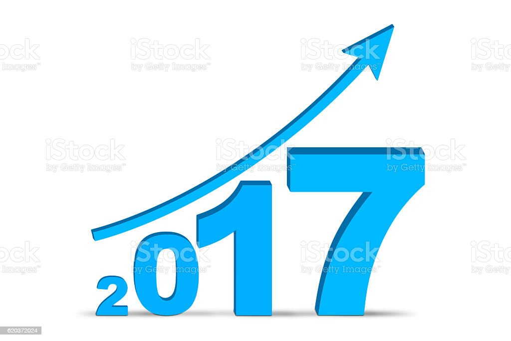 Financial report of year 2017 zbiór zdjęć royalty-free