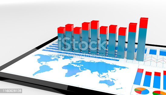 istock Financial report on digital tablet 1160628128