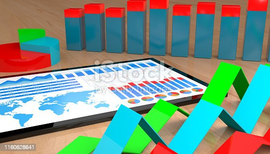 istock Financial report on digital tablet 1160628641