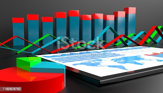 istock Financial report on digital tablet 1160628762