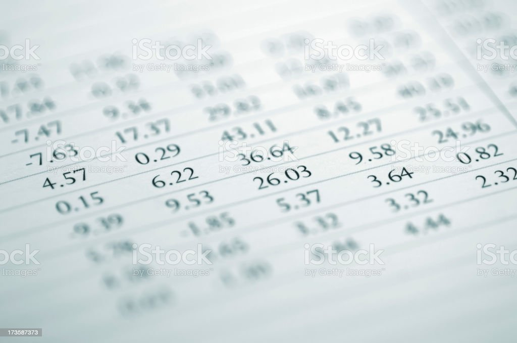 financial report royalty-free stock photo
