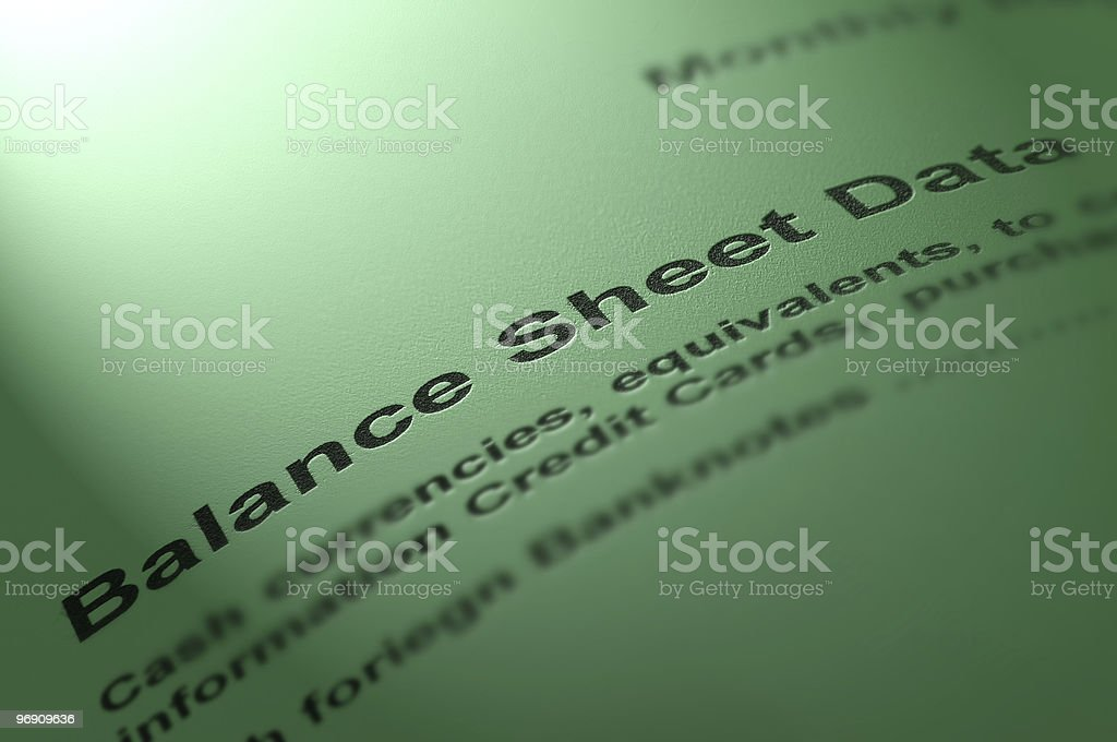 Financial report. royalty-free stock photo
