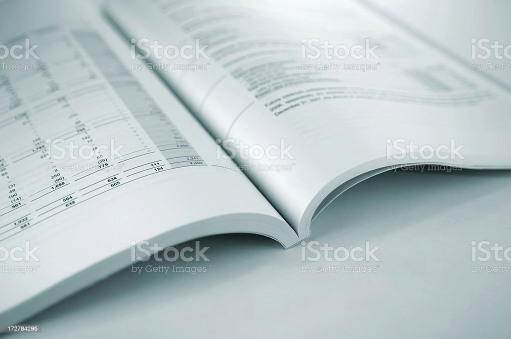 financial report series royalty-free stock photo