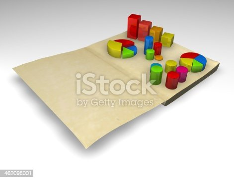 486678786 istock photo financial report with charts 3d render illustration isolated 462098001