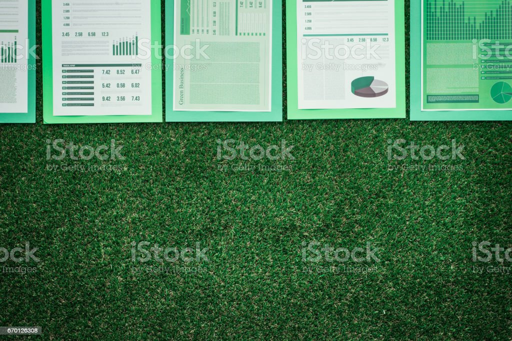 Financial reports - Foto stock royalty-free di Affari
