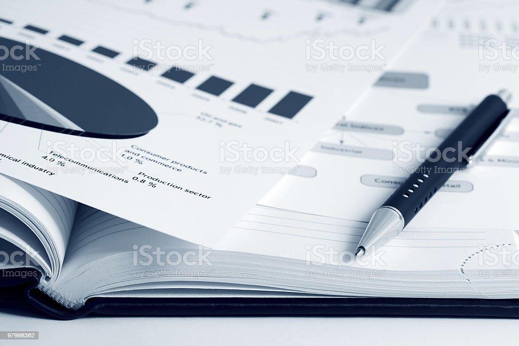 Financial reports royalty free stockfoto