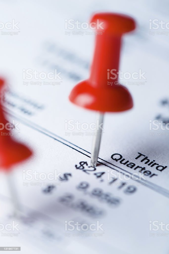 financial results inspection stock photo