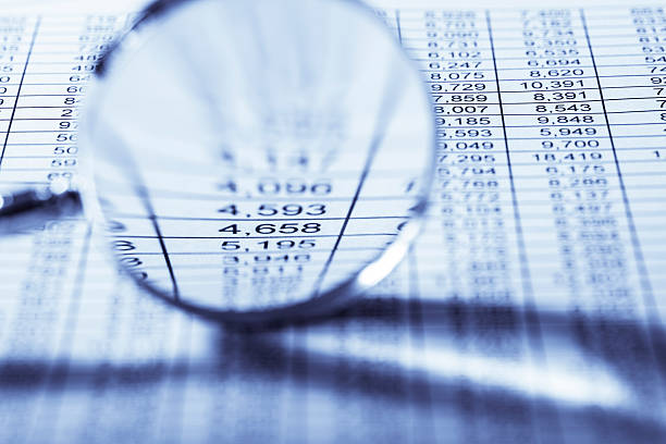 financial results stock photo