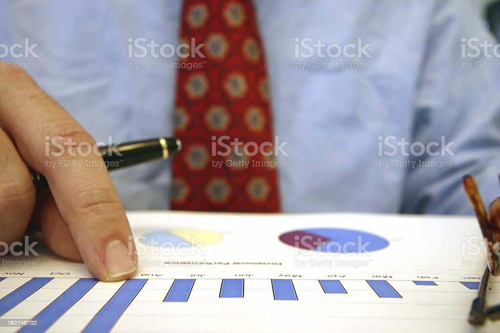Financial review royalty-free stock photo