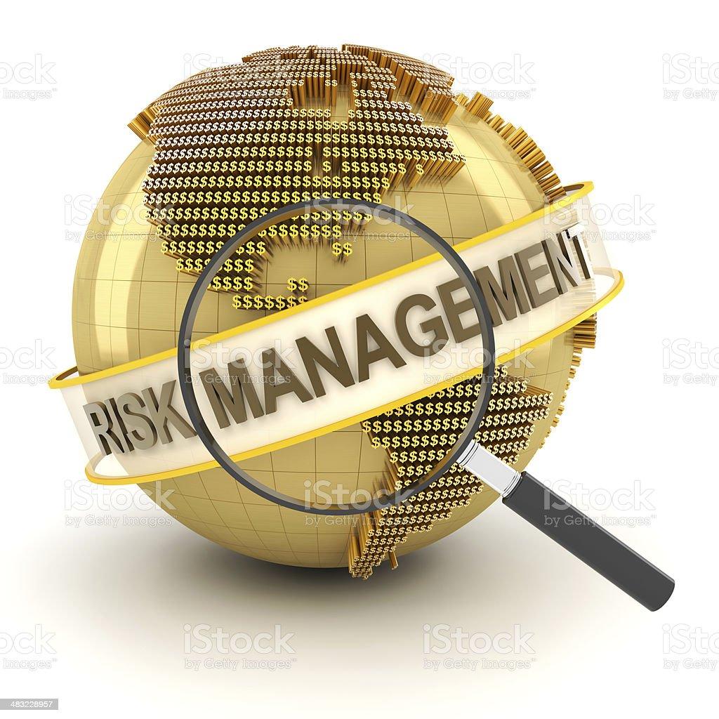 Financial risk management, 3d render stock photo
