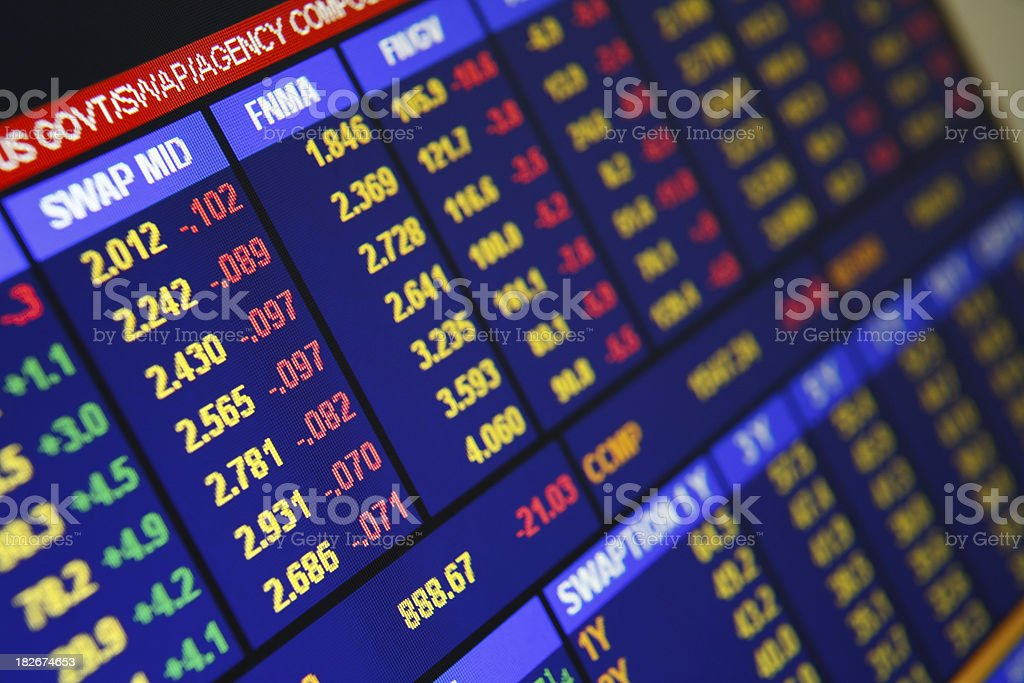Financial share price information royalty-free stock photo