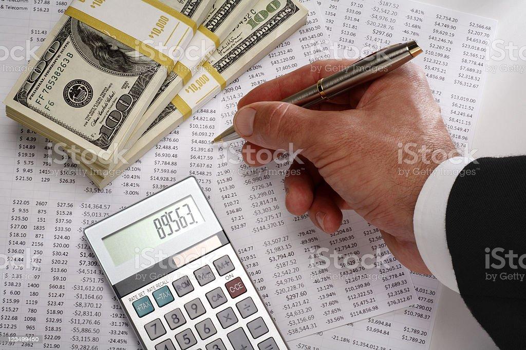 Financial Spread Sheets stock photo
