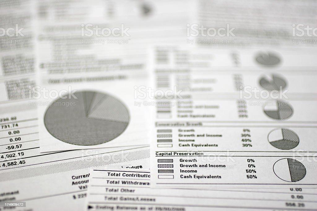 Financial Spreadsheet royalty-free stock photo