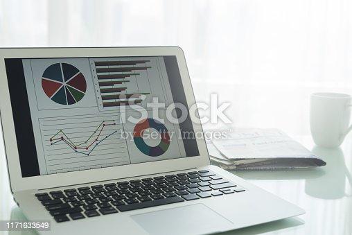 istock Financial spreadsheet report 1171633549
