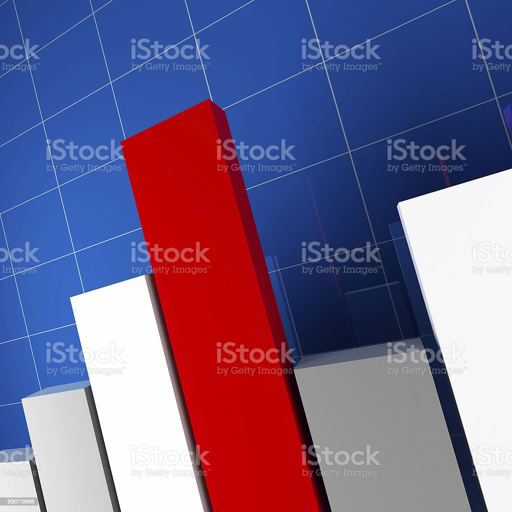 financial stat 3d royalty-free stock photo