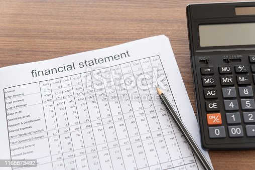 675825950 istock photo financial statement report 1168873492