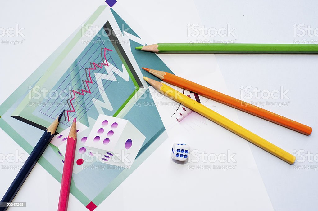 Financial statements, Painted Figure stock photo