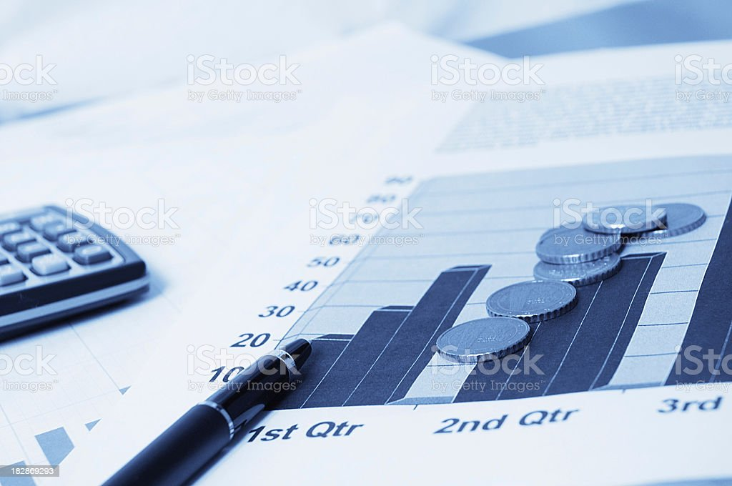 financial statistics royalty-free stock photo