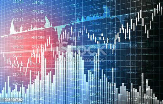 istock Financial stock market graphs and chart 1058256730