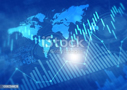 istock Financial stock market graphs and chart 1058256828