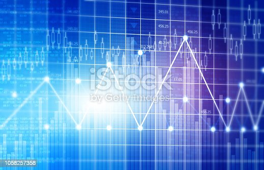 istock Financial stock market graphs and chart 1058257358