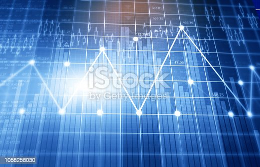 istock Financial stock market graphs and chart 1058258030