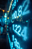 Financial stock market numbers on the street