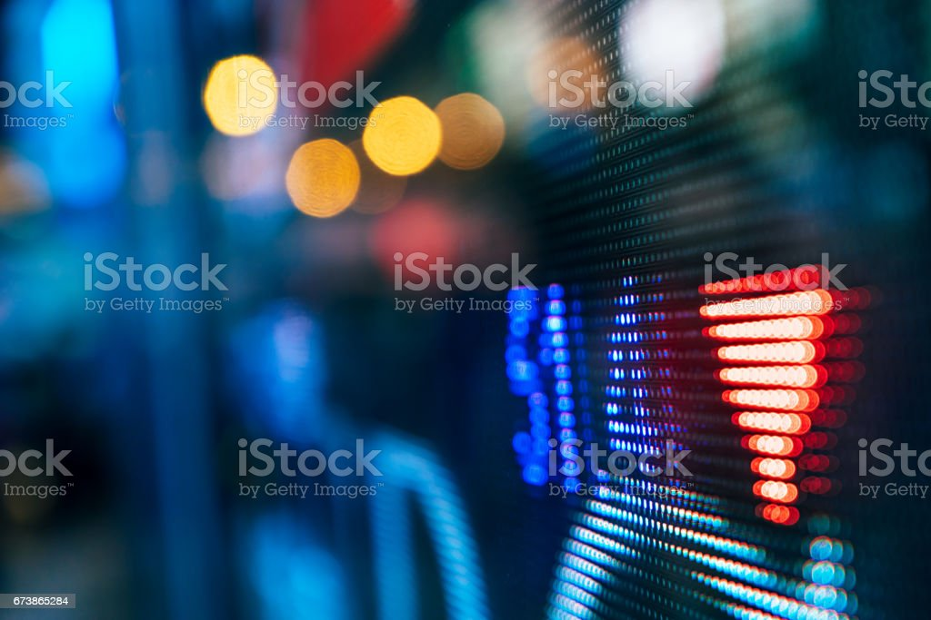financial stock market numbers on the street photo libre de droits