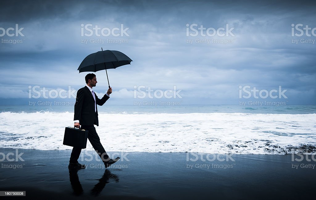 Financial Storm stock photo