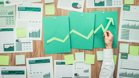 Financial Success And Green Business Stock Photo - Download Image Now