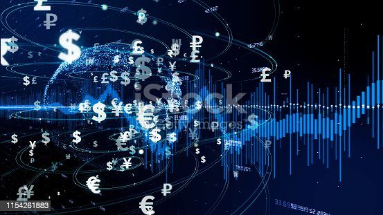 istock Financial technology concept. Crypto currency. Fintech. 1154261883