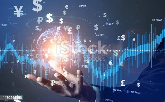 istock Financial technology concept. Fintech. Crypto currency. Electronic money. Cashless payment. Modern Monetary Theory. 1180543383