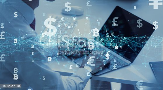 istock Financial technology concept. Fintech. Cryptocurrency. 1012357134