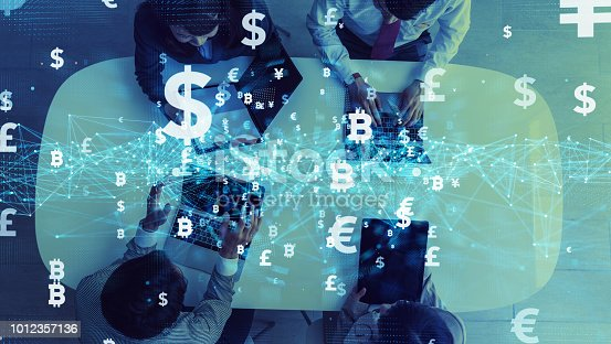 istock Financial technology concept. Fintech. Cryptocurrency. 1012357136