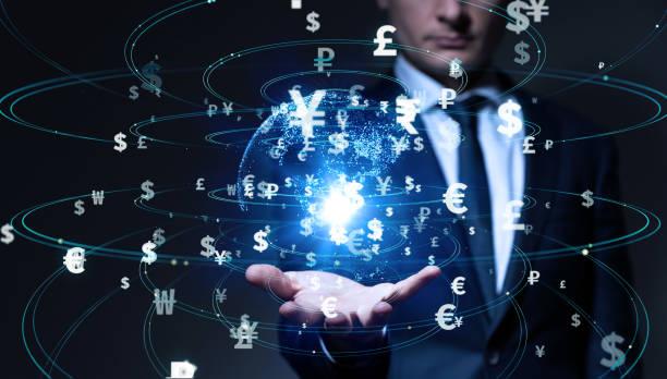 金融技術コンセプト。フィンテック。外国為替。 ストックフォト