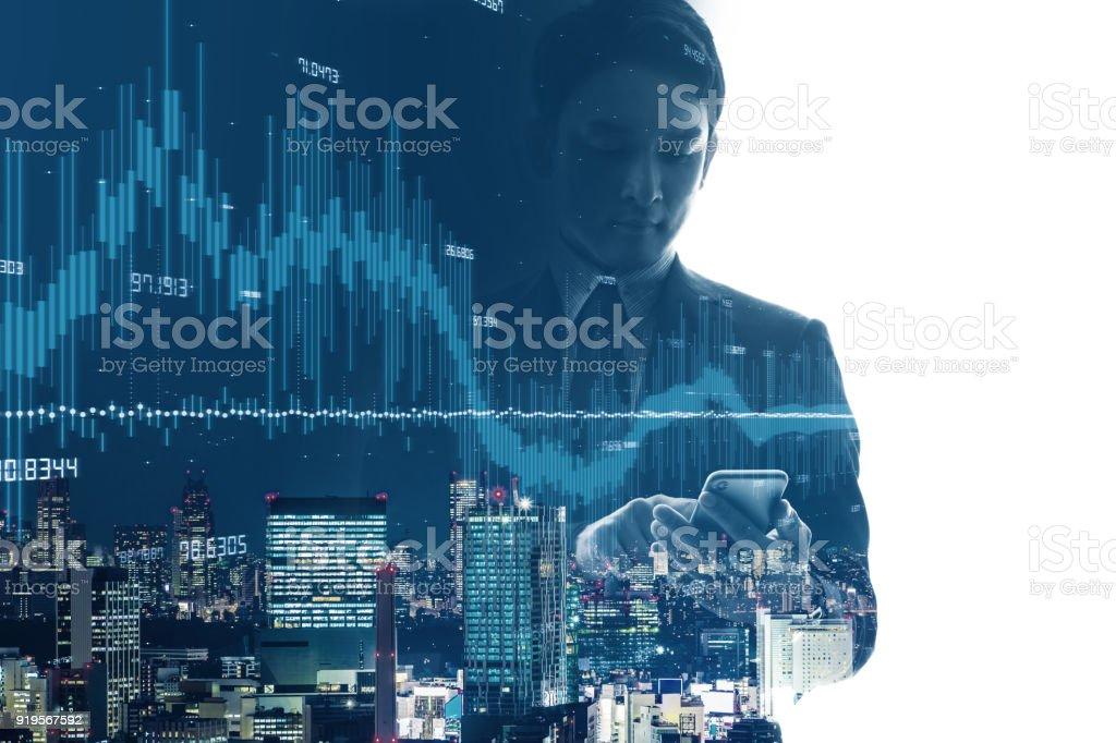 Concepto de la tecnología financiera. FinTech. - foto de stock