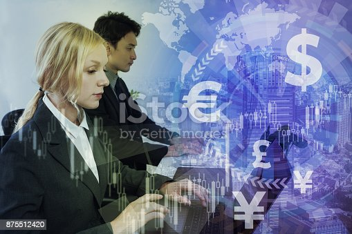 875512438 istock photo Financial technology concept. 875512420