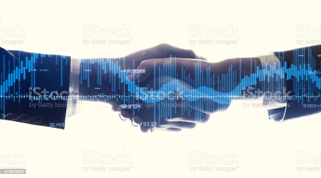 Financial technology concept. stock photo