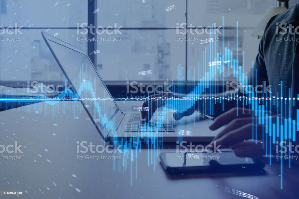 Financial technology concept. stock photo