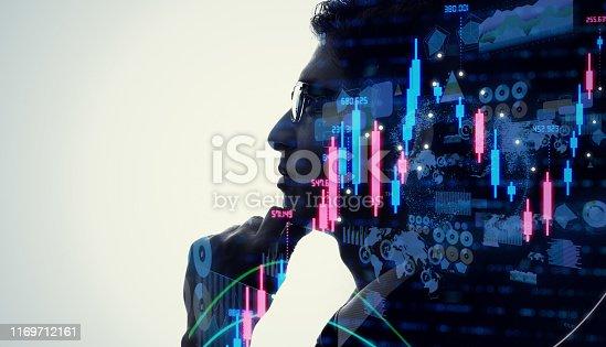 1154268620 istock photo Financial technology concept. Stock chart. Investment. Fintech. 1169712161