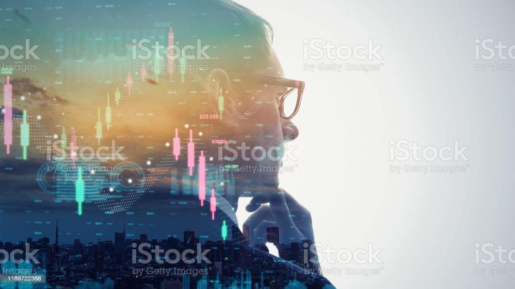Financial technology concept. Stock chart. Investment. Fintech. - Royalty-free 5G Stock Photo