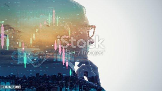 1154268620 istock photo Financial technology concept. Stock chart. Investment. Fintech. 1169722388